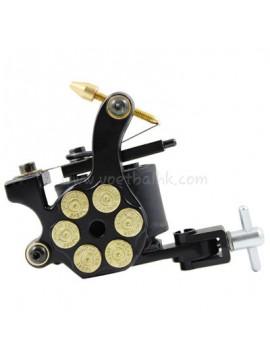 Tattoo Maschine N105 10 Layer Coil Eisen Shader Bullet Schwarz