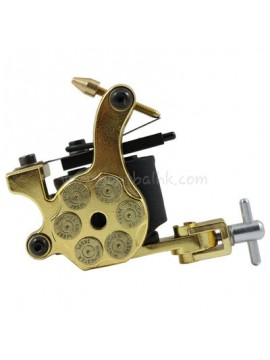 Tattoo Maschine N105 10 Layer Coil Eisen Shader Bullet Gold