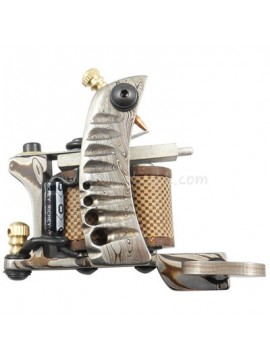 Tattoomaschine N109 10 Layer Coil Damascus Stahl Liner Silber