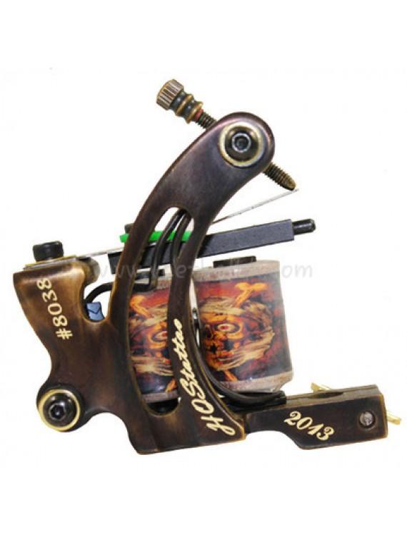 Tattoo Maschine N130 10 Schicht Spule Bronze Shader Nummer 8038
