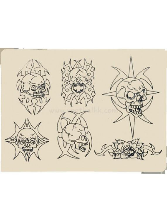 Tattoo Silikon Haut üben Schädel 10PCS